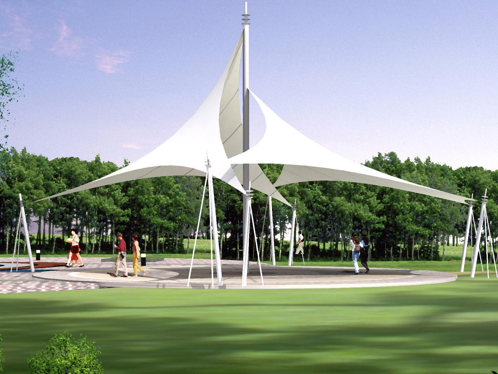 景观设施膜结构设计效果图集